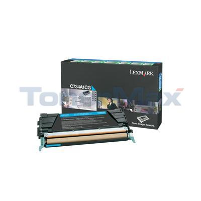 LEXMARK C734DN RP TONER CART CYAN 6K